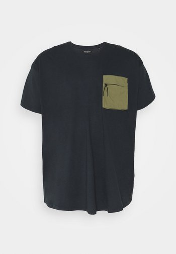 PATCH POCKET TEE  - Basic T-shirt - navy