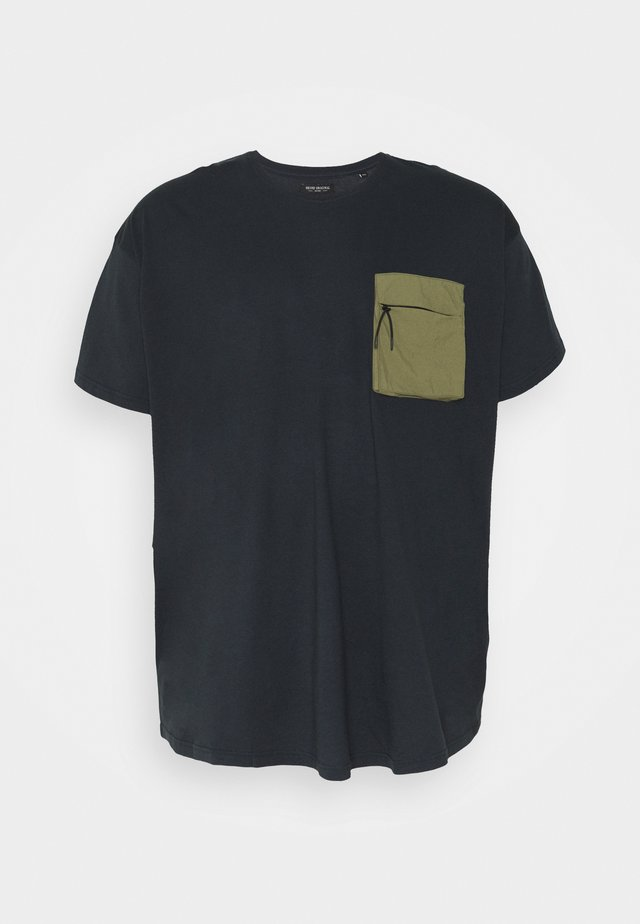 PATCH POCKET TEE  - T-shirt basique - navy