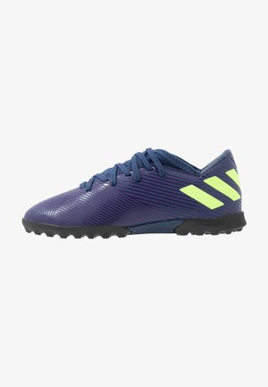 NEMEZIZ MESSI 19.3 TF - Astro turf trainers - tech indigo/signal green/glow purple