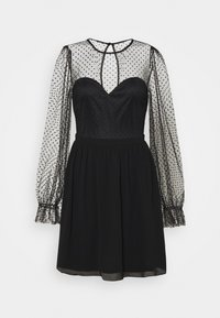 Nly by Nelly - RITZY DOT SKATER DRESS - Cocktail dress / Party dress - black - 3