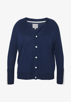 BUTTON DOWN CARDIGAN - Cardigan - navy