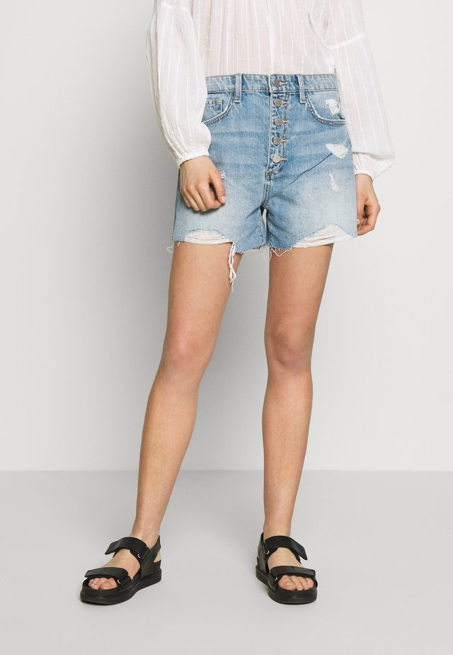 THE KINSLEY  - Denim shorts - tulip