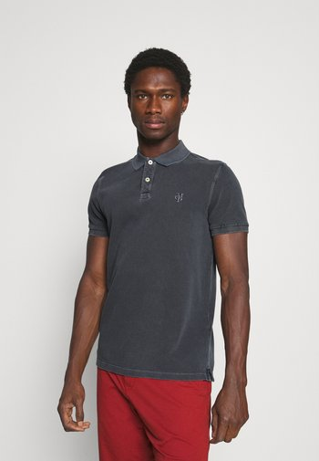 SHORT SLEEVE BUTTON PLACKET COLLAR AND CUFF - Polo shirt - logogrey