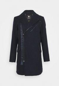 G-Star - BIKER LONG COAT - Classic coat - mazarine blue - 0