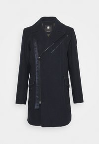 BIKER LONG COAT - Classic coat - mazarine blue
