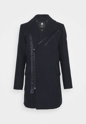 BIKER LONG COAT - Mantel - mazarine blue