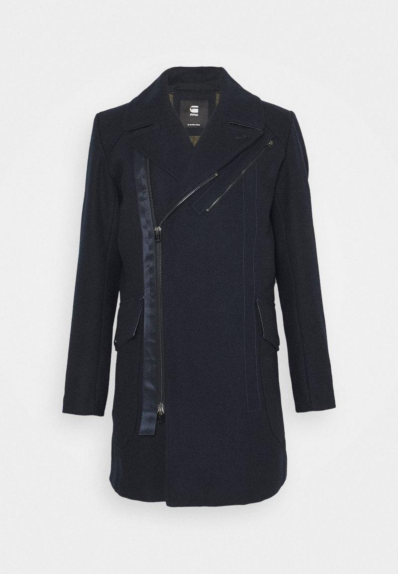G-Star - BIKER LONG COAT - Classic coat - mazarine blue