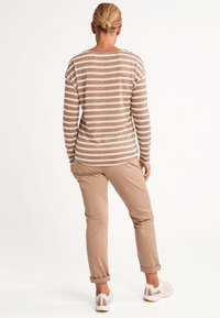 comma casual identity - Long sleeved top - brown stripes - 2