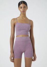 PULL&BEAR - Shorts - dark purple - 4
