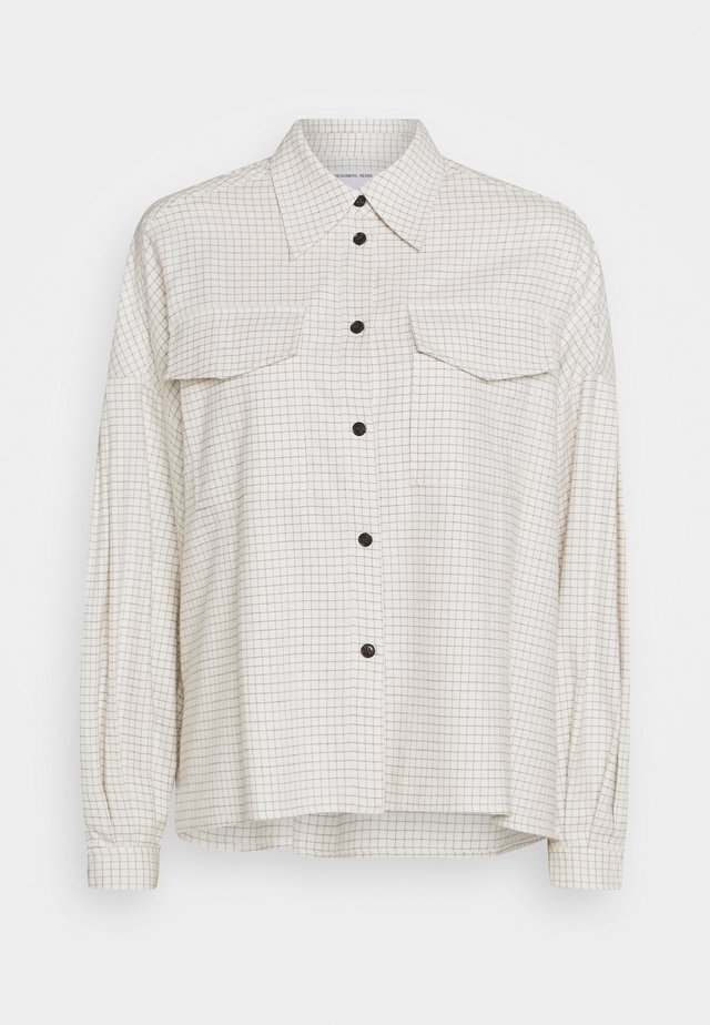 ALFIE  - Button-down blouse - cream/black
