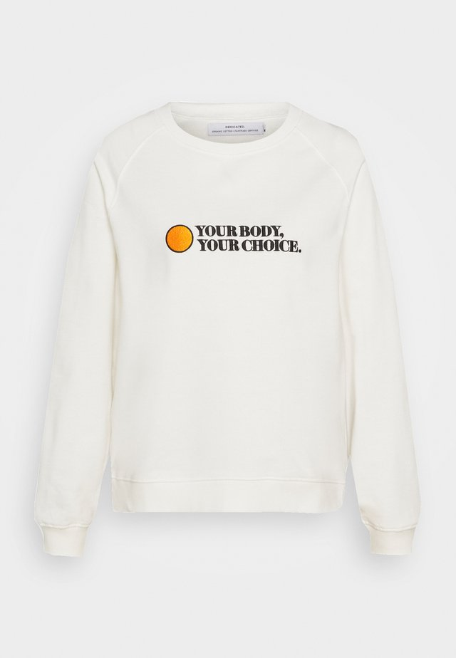 YSTAD RAGLAN YOUR BODY - Sweatshirts - off-white