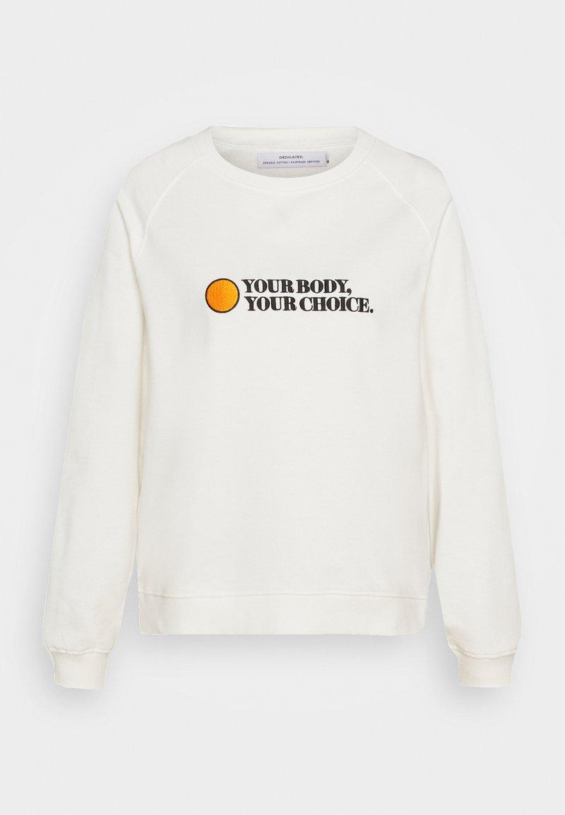 Dedicated - YSTAD RAGLAN YOUR BODY - Sweatshirt - off-white
