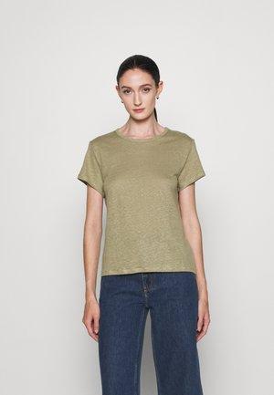 HAZEL TEE - Jednoduché triko - sage green