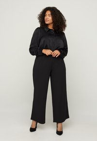 Zizzi - Button-down blouse - black - 0