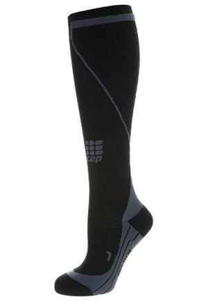 ENDURANCE COMPRESSION WINTER - Knee high socks - black/grey