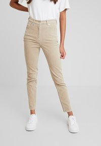 Weekday - EVE TROUSER - Trousers - sand - 0