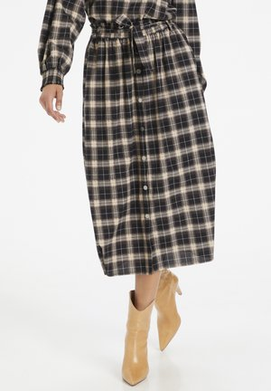 A-line skirt - black check