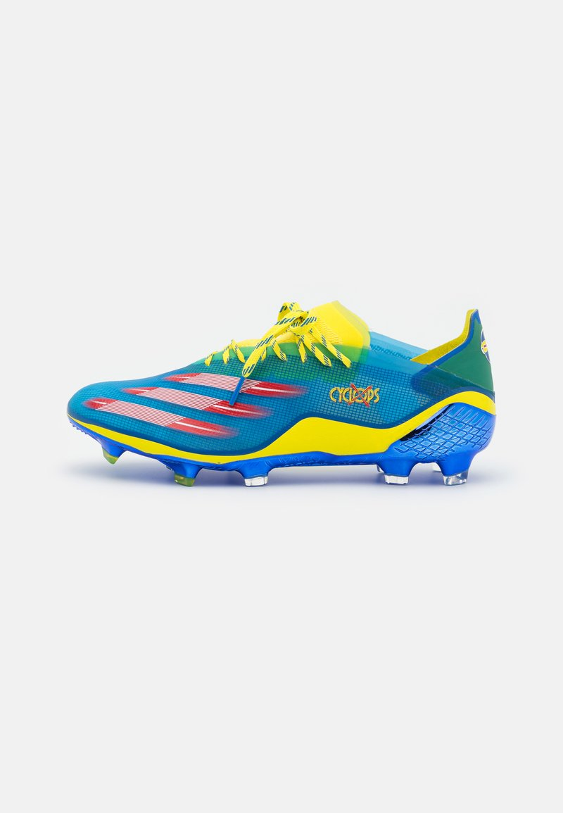 adidas Performance - X GHOSTED.1 FG - Moulded stud football boots - blue/vivid red/yellow