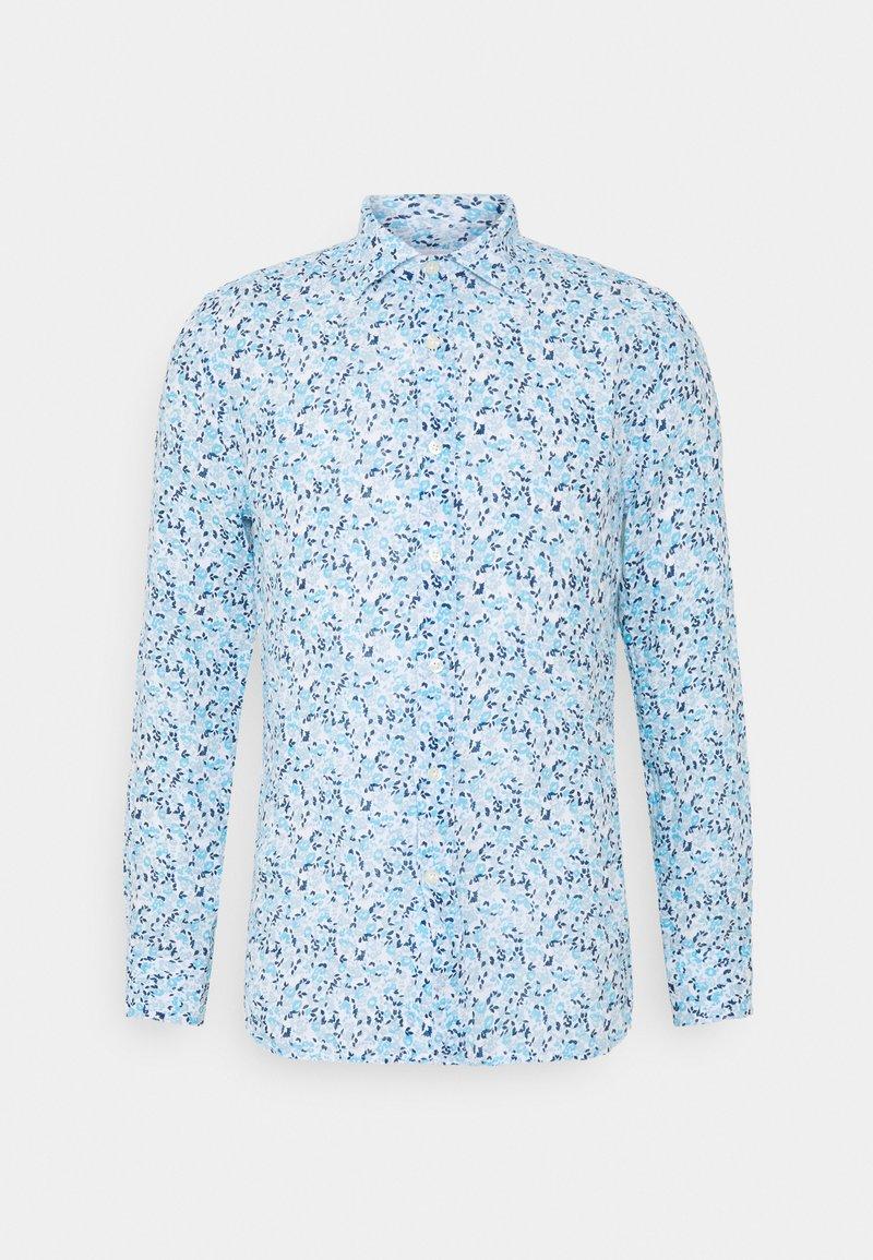 120% Lino - SLIM FIT - Camicia - blue