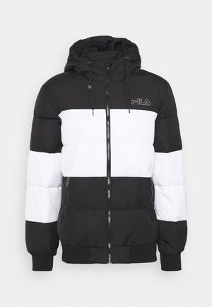 LASSAD PUFFED JACKET - Talvitakki - black/bright white
