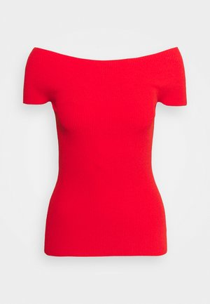 COMPACT  - T-shirt con stampa - scarlet