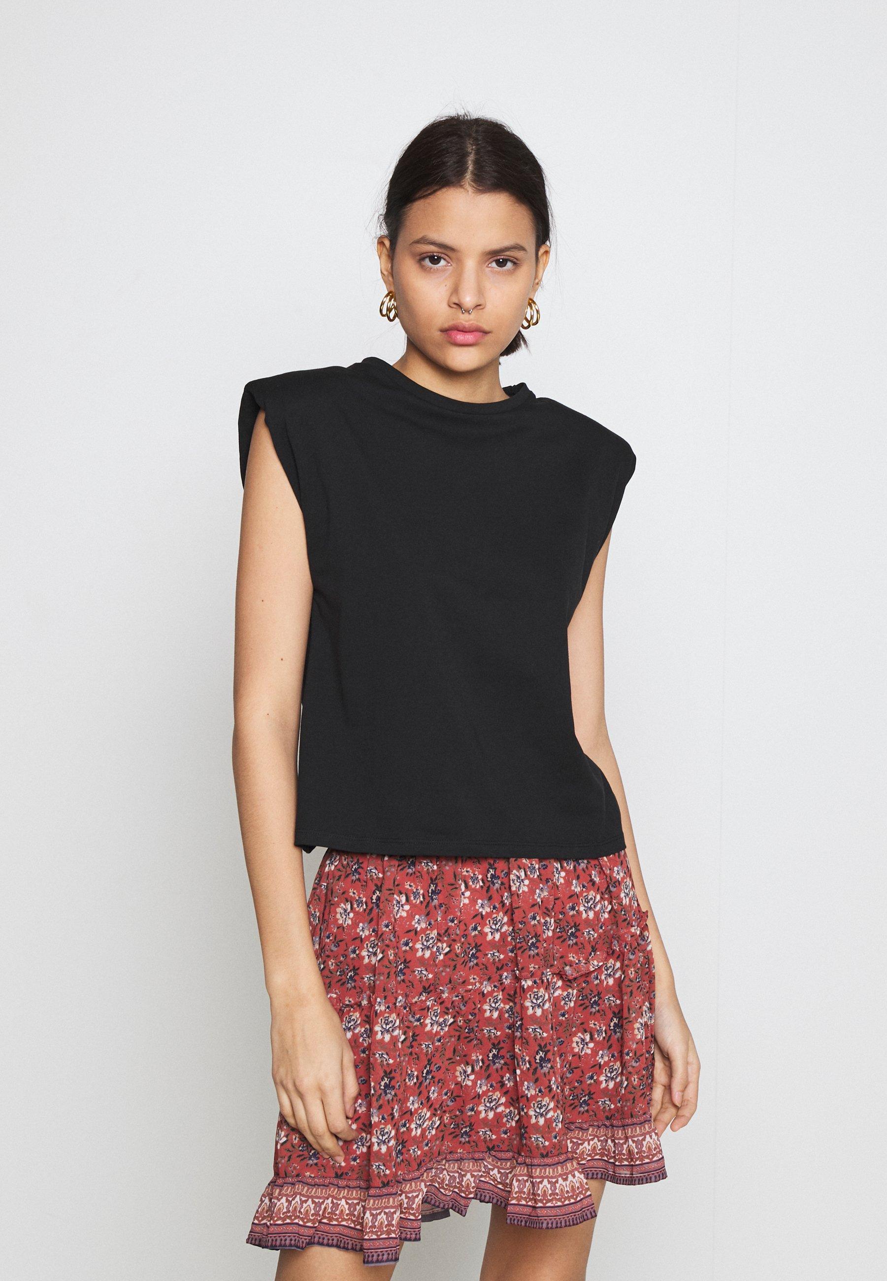 Women NMMINNA PADDED - Basic T-shirt