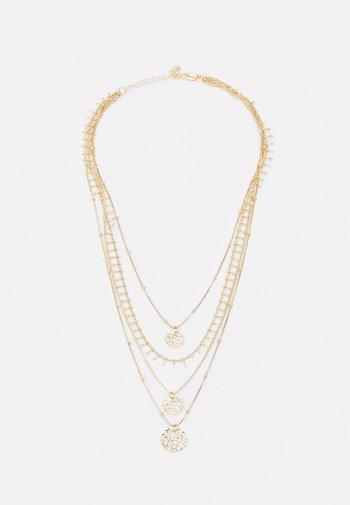 PCSANJA COMBI NECKLACE - Necklace - gold-coloured