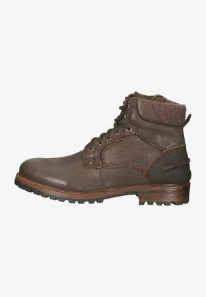 Snørestøvletter - brown leather