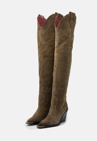 Bronx - NEW KOLE - High heeled boots - moss - 2