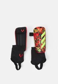 adidas Performance - MESSI UNISEX - Shin pads - black/shock yellow/solar red - 0