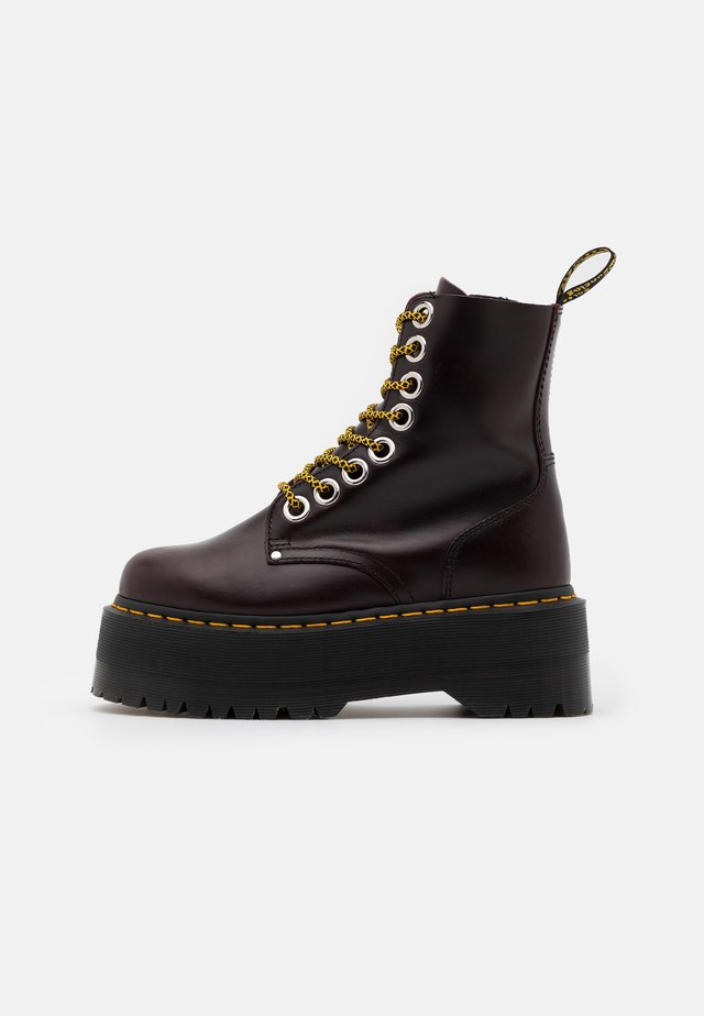 JADON MAX - Bottines à plateau - oxblood