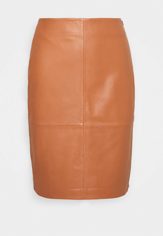 CECILIA - Pencil skirt - mocha bisque