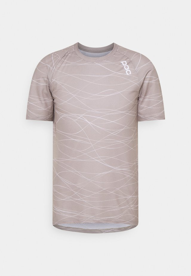 PURE TEE - T-shirt print - lines moonstone grey
