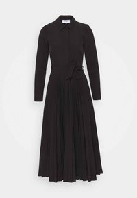 PLEATED SHIRT DRESS - Košilové šaty - black