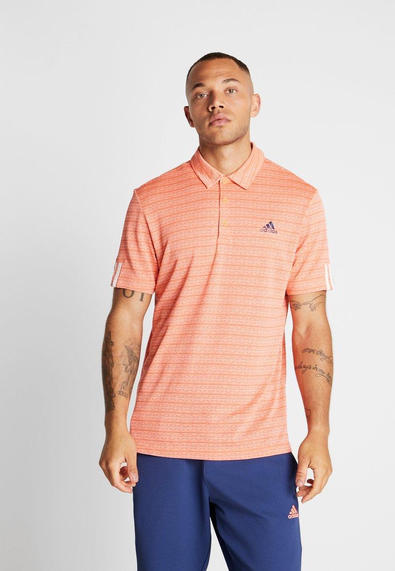 adidas Golf - STRIPE COLLECTION - Poloshirts - amber tint/signal coral