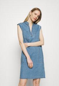 Marc O'Polo - DRESS TUNIQUE STYLE   - Shirt dress - blue denim - 0