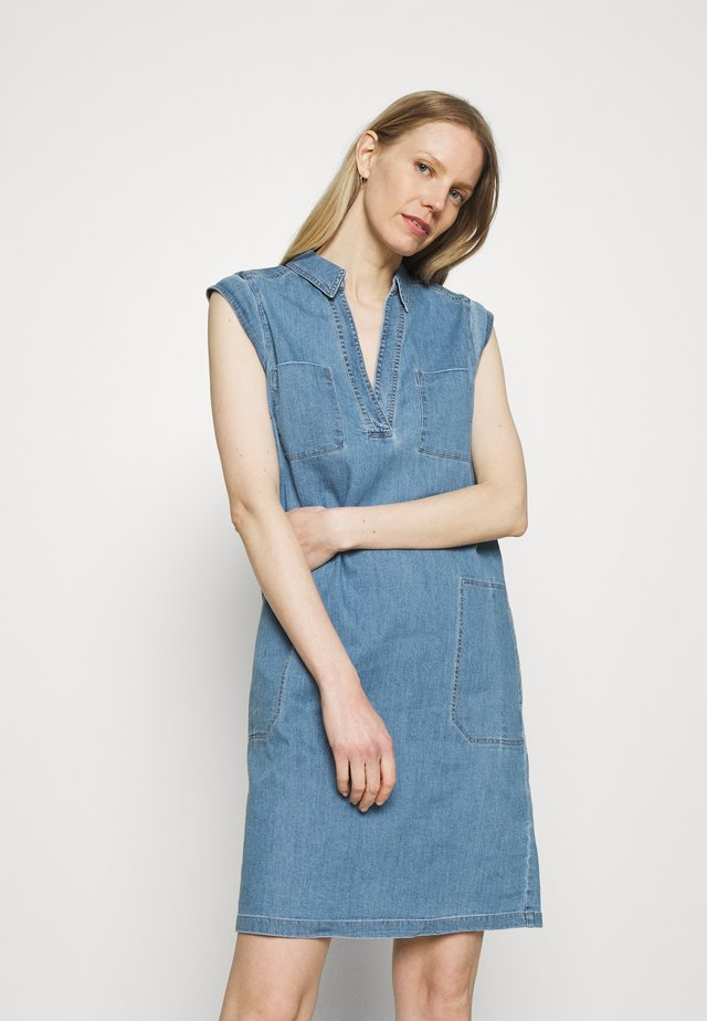 DRESS TUNIQUE STYLE   - Shirt dress - blue denim