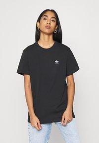 adidas Originals - LOOSE TEE - Print T-shirt - black - 0