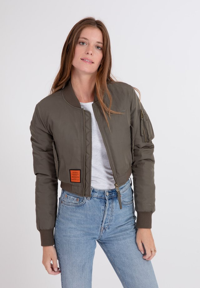 SLASH BOMBER JACKET - Bomberjacks - kaki