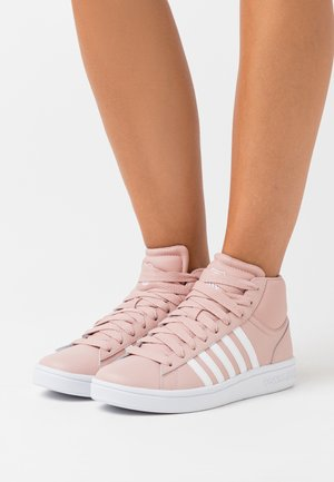 COURT WINSTON MID - Høye joggesko - misty rose/white