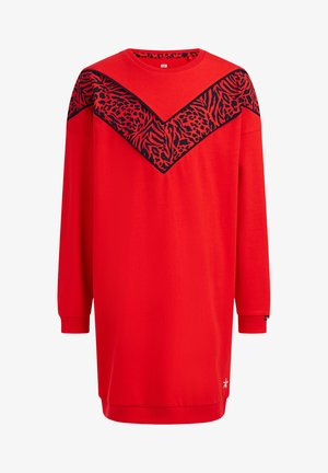 Jumper dress - bright red
