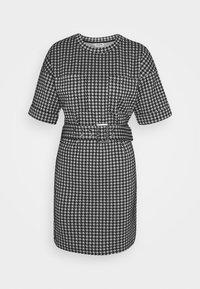 NMHOUND DRESS - Day dress - bright white/black
