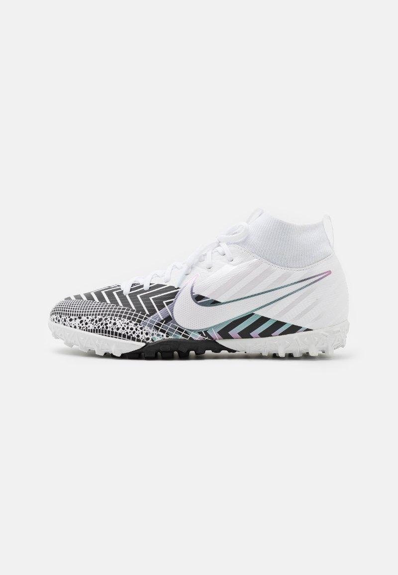 Nike Performance - MERCURIAL JR 7 ACADEMY TF UNISEX - Fußballschuh Multinocken - white/black