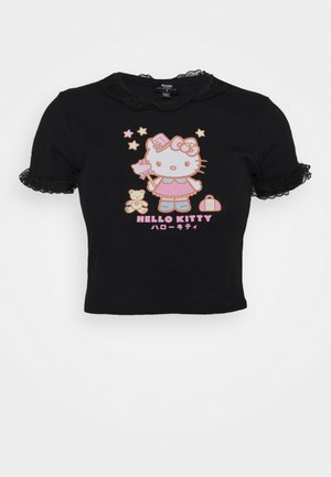 CROP TEE - T-shirts med print - black
