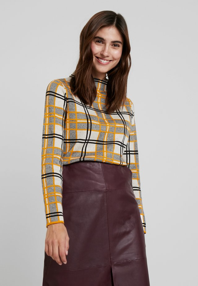 TURTLE - Sweatshirt - gelb/ecru/weiss