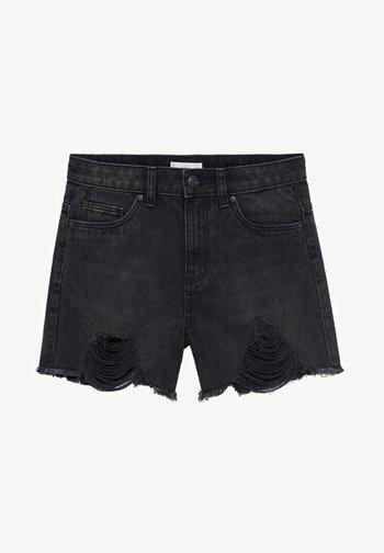 HELEN - Denim shorts - black denim