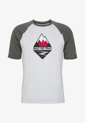 PUREFLOWZ MEN - Print T-shirt - glacier grey/gun metal/cyber red