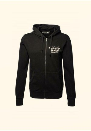 Zip-up sweatshirt - schwarz