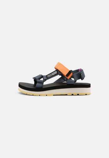 OUTDOORSY URBANITY UNISEX - Walking sandals - blue denim/nectarine/chinese violet