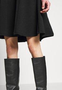 Anna Field - BASIC MINI A-LINE SKIRT - Minifalda - black - 4